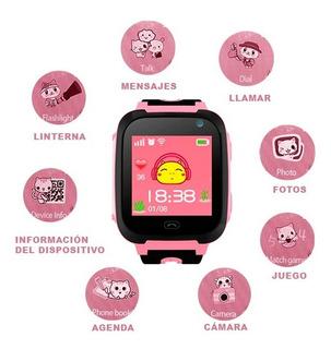 Smartwatch -rosa Reloj Para Niños
