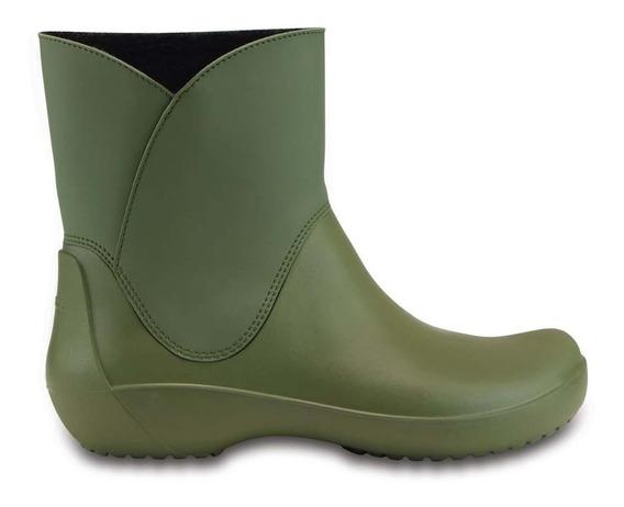 Crocs Bota De Lluvia Rainfloe Bootie C203417 C309 Army Green