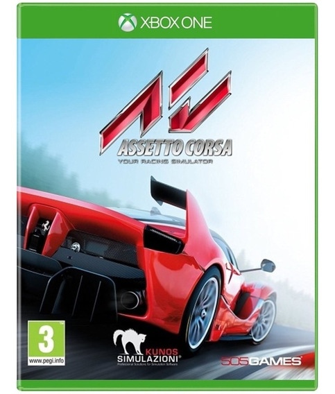 Game Assetto Corsa Xbox One Disco Fisico Novo Dublado Barato
