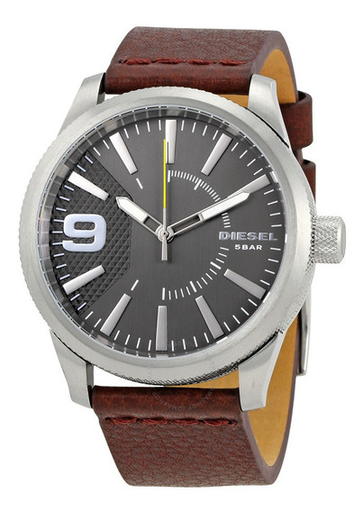 Relógio Masculino Diesel Pulseira De Couro Dz1802/0ci