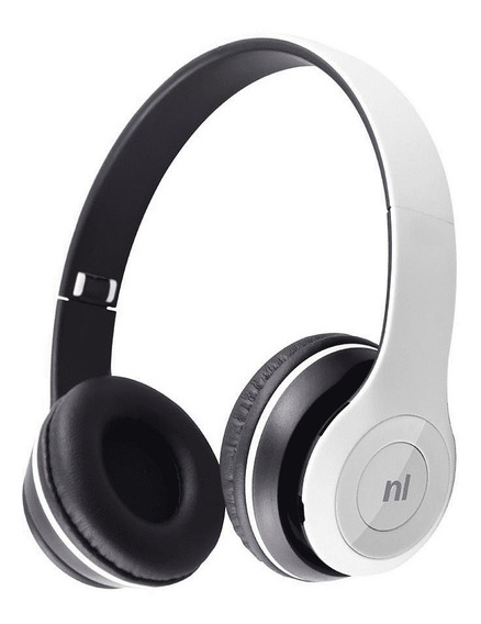 Fone Headset Bluetooth Sd Fm Essence Hs117 Newlink Branco