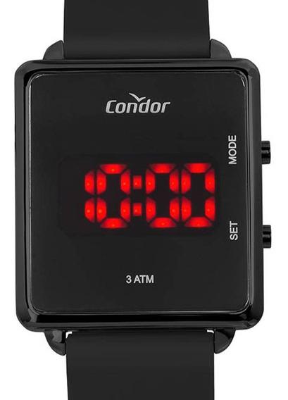 Relógio Condor Preto Feminino Digital Led Cojhs31bae/2p +nfe