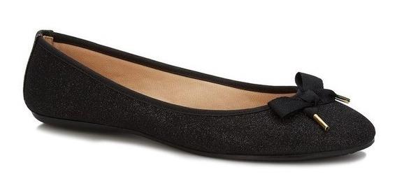 Zapatos De Piso Negros Flats Negras Andrea Con Moño