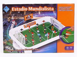 Juego De Mesa Estadio Mundialista Tipo Metegol Duende Azul