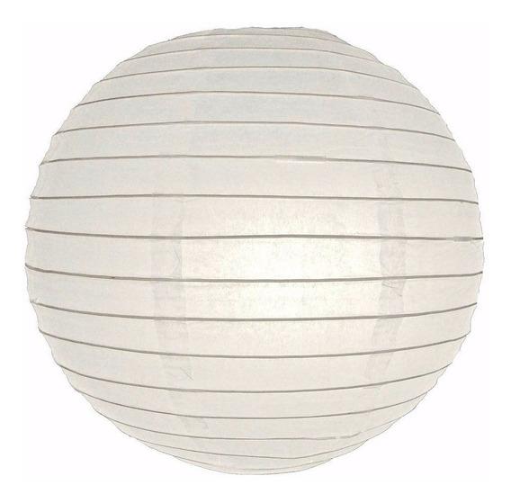 10 Lamparas Chinas De Papel 20cm Colgante Blancas Fiesta