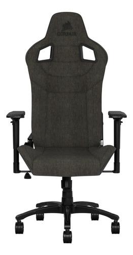 Imagen 1 de 4 de Silla de escritorio Corsair T3 Rush gamer ergonómica  charcoal con tapizado de tela