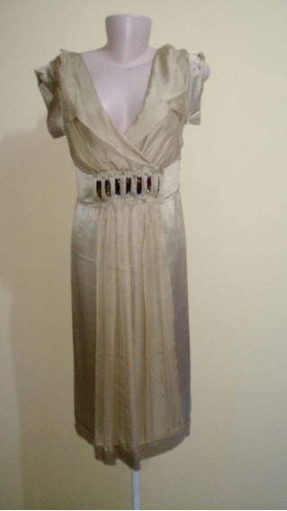 Vestido 100% Seda Alberta Ferretti Importado.