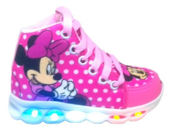 Tênis Sapato Led Minnie Infantil Personagem Disney Feminino