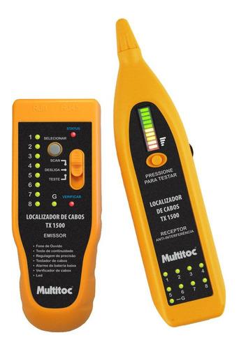 Imagem 1 de 3 de Kit Testador De Cabo Multitoc Tx1500 Rj 45