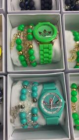 Kit 10 Relógio Feminino adidas + Pulseira + Caixinha Barato