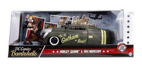 Auto Harley Quinn 1951 Mercury 1:24 Metal Diecast Jada