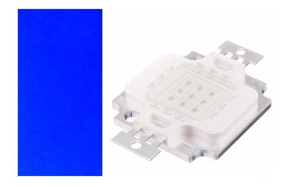 Led Azul Royal 10w 12v Led Chip Kit 10 Unidades Promocão