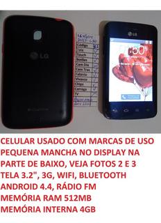 Celular LG L30 Sporty D125f Tela 3,2 Android 4.4 Leia (i1)