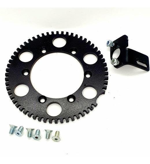 Engrenagem Para Adaptação Roda Fonica + Suporte De Sensor