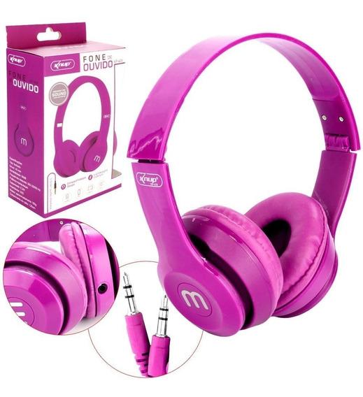 Headphone Fone De Ouvido P2 Kp-429 Preto Kp-429 Knup
