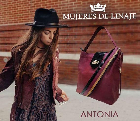 Cartera De Cuero Mujeres De Linaje Oficial Modelo Antonia