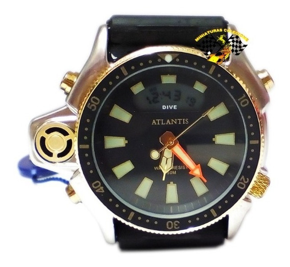 Relógio Masculi Atlantis G3200 Aqualand Jp2000 Fundo Laranja