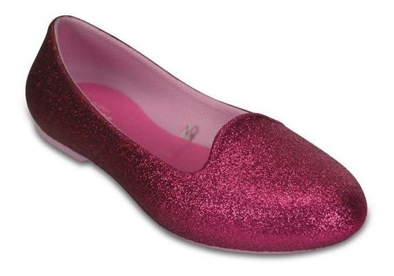 Zapato Crocs Niña Crocs Eve Sparkle Flat Rosa