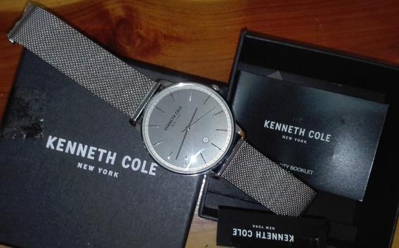 Reloj Original Kenneth Cole New York Water Resistent Con Fechador