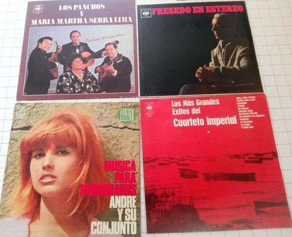 Lote De 4 Discos De Vinilo Música Nacional D20