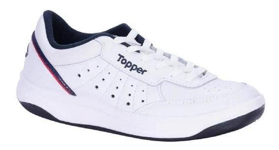 Zapatillas Topper Hombre X-forcer Blanco Azul Rojo Tenis