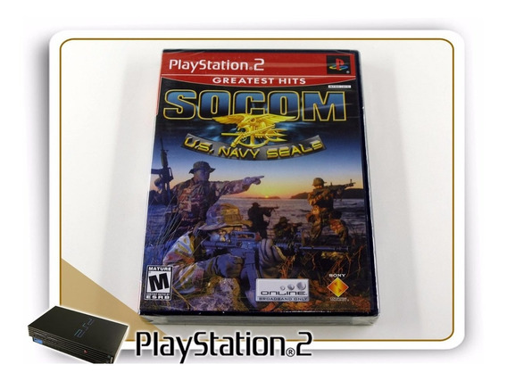 Ps2 Socom Us Navy Seals Original Playstation 2 Lacrado Novo
