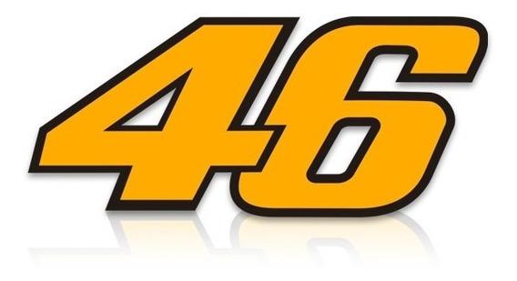Adesivo 46 Valentino Rossi Amarelo