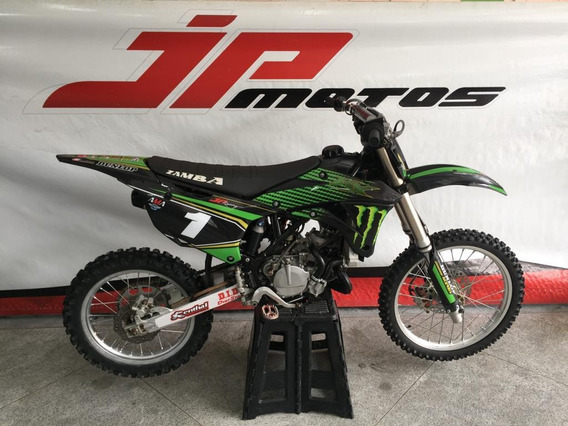 Kawasaki Kx 100 2014 Preta Com Di Oficial