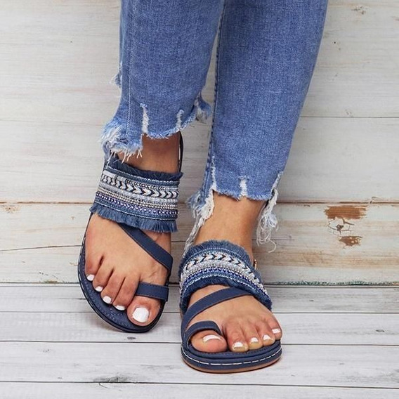 Las Mujeres De La Comodidad De Las Sandalias Planas Zapatos