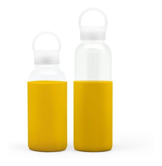 Combo X 2 Botellas De Vidrio Borosilicato 350 Y 500ml Ó Gato