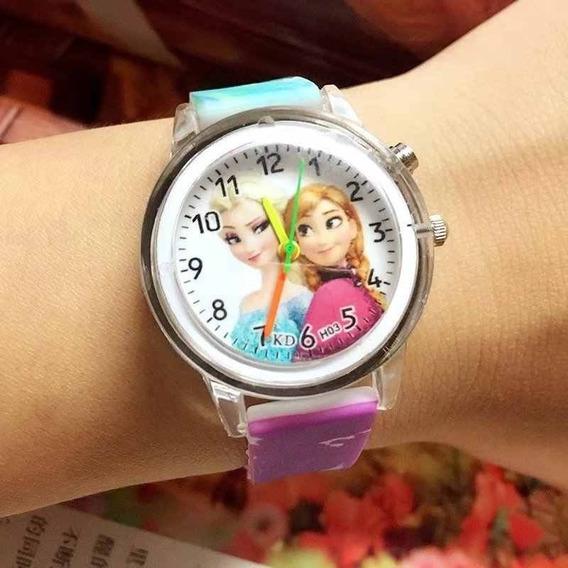 Relógio De Pulso Feminino, Masculino Luz Colorida, Princesa