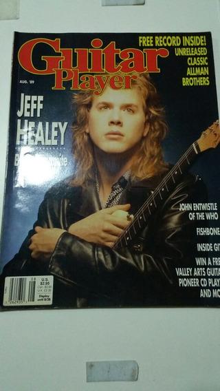 Revista Guitar Player - Jeff Healey - Ed. Americana
