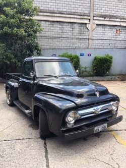 Pick Up Ford F-100 Preta 1958 V8 392 Landau/maverick