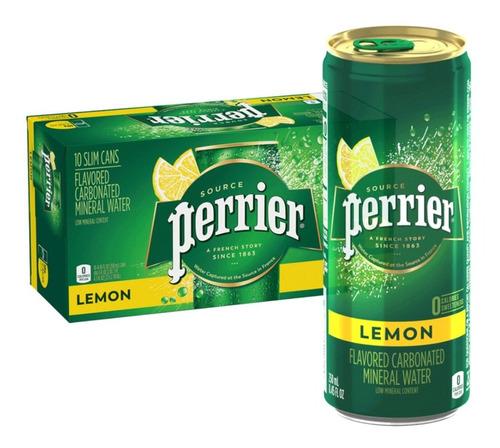 Imagem 1 de 2 de 10x Bebida Aromatizada Perrier Limão Com Gás 250ml