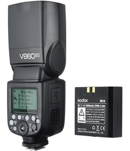 Flash Godox V860 Ll Para Fuji C/ Bateria