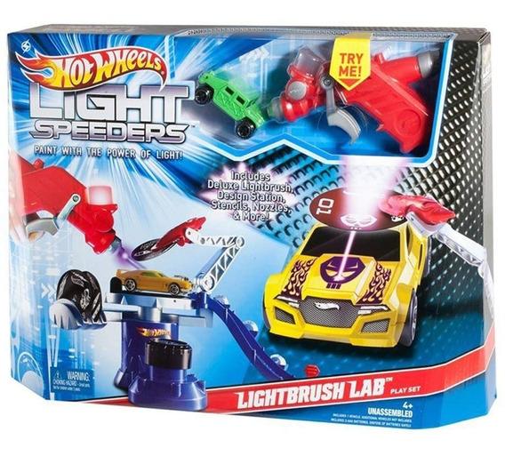 Hotwheels Light Speeders Laboratorio De Pintura Carros