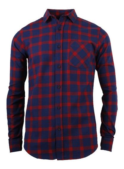 Camisa M/l Navy Rojo