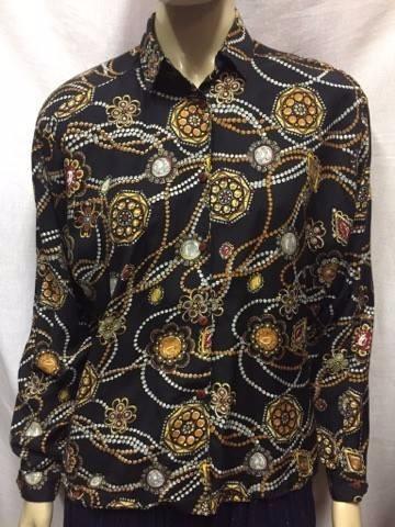 Lindissima Blusa Vintage Importada Estampa Lenço