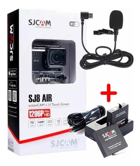 Câmera Sjcam Sj8 Air Original + Kit Bateria + Microfone