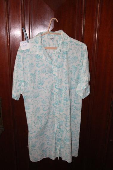 = Roupa Lote 579 Mulher Camisáo Vestido Stroke 3 Azul Branco