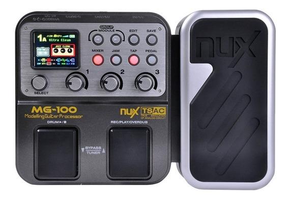 Pedaleira Guitarra Nux Mg100 58 Efeitos- 1 Ano Garantia