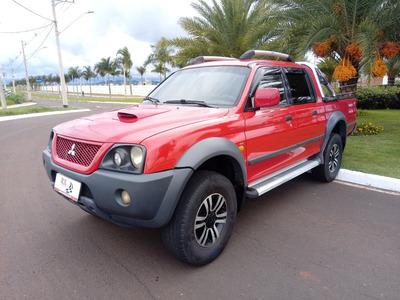 Mitsubishi L200 Gls Cd 2.5 4x4 Tdi Diesel Vermelha 2008