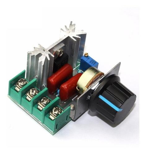 Imagen 1 de 5 de Dimmer Dimer 2000w 110/220v Regulador De Velocidad Voltaje