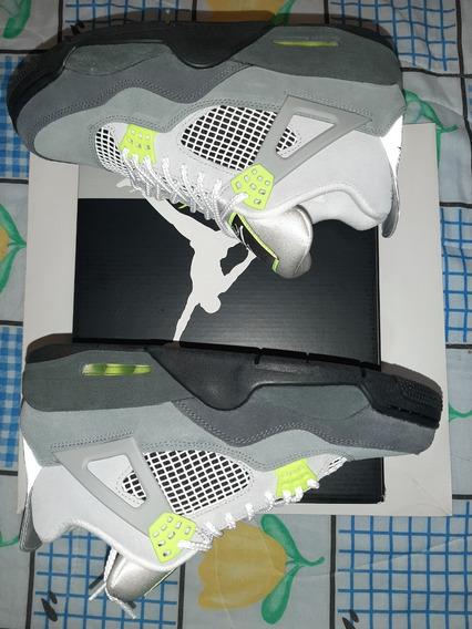 Tenis Nike Air Jordan 4 Retro Se Neón