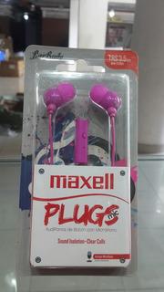 Audifono Maxell In-mic Para Todo Tipo De Celulares