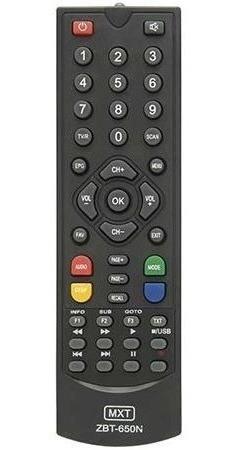 Controle Remoto S1001hd S1005hd S2005hd S926hd S928 Zbt650n