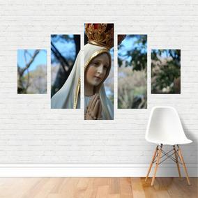Quadro Religião Nossa Senhora De Fátima Catolicismo Canvas