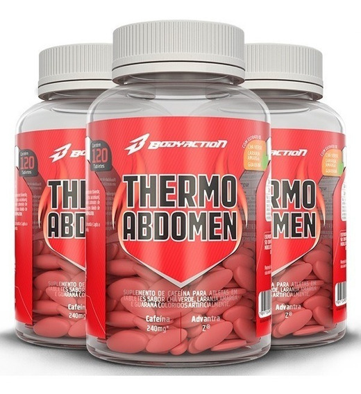 Kit 3x - Emagrecedor - Thermo Abdomen 120 Caps - Body Action