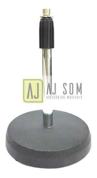 Suporte De Mesa P/microfones Arcano,cromado-base De Ferro