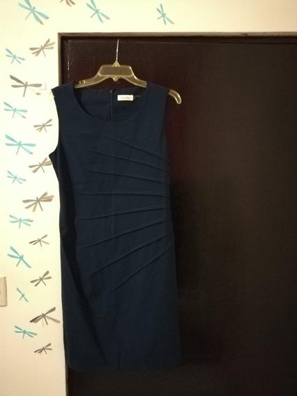 Vestido Calvin Klein - Nuevo Sin Etiqueta - Azul Oscuro